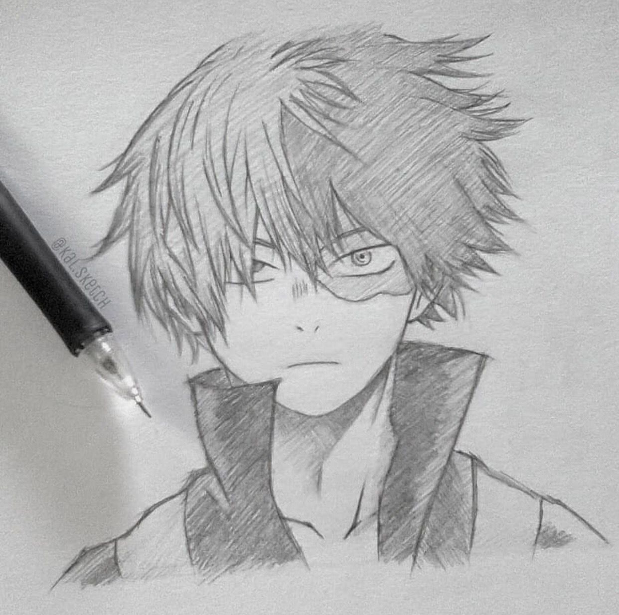 Todoroki By Kal Sketch Visit Our Website For More Anime And Animeart Myheroacademia Don T Forget To Follow Our Anime Sketch Drawings Anime