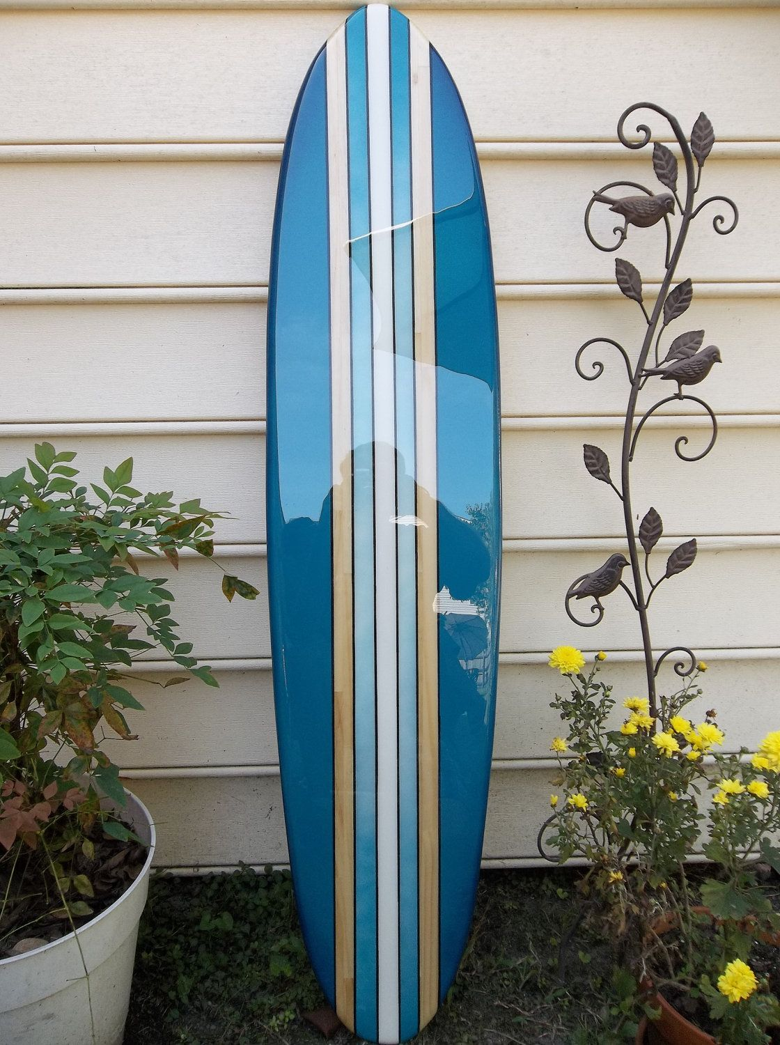Surfboard Wall Hanging Surfboard Wall Art Four By FLYONEBOARDSHOP, $129.99
