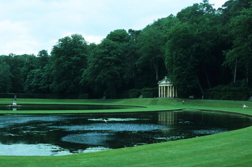 English Garden: Studley Royal, Yorkshire England. Magnificent 18th century water garden. #dnalandscape photo.