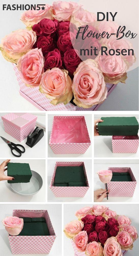 FLOWER BOX DIY – Self Made Rosenbox   FASHION5 Blog