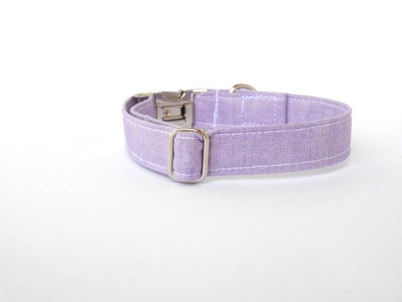 Lilac adjustable female dog collar with metal buckle and slider. With stabilizer sewn inside to give it a long durable life. This listing is only for