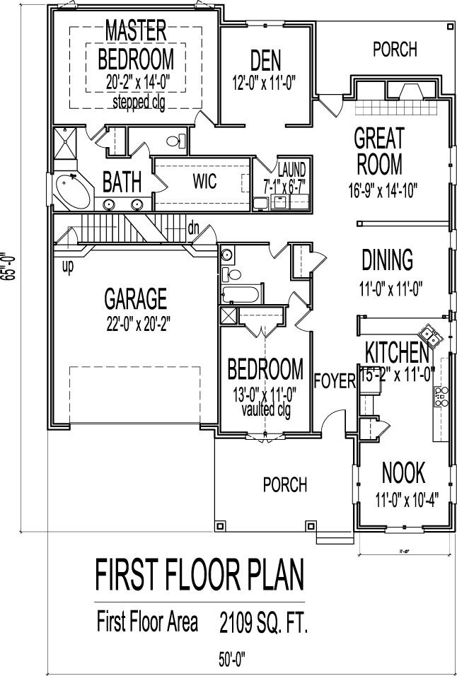 Small Brick House Floor Plans Drawings With Garage 2 Bedroom 1 Story Garage House Plans Floor Plans Floor Plan Creator