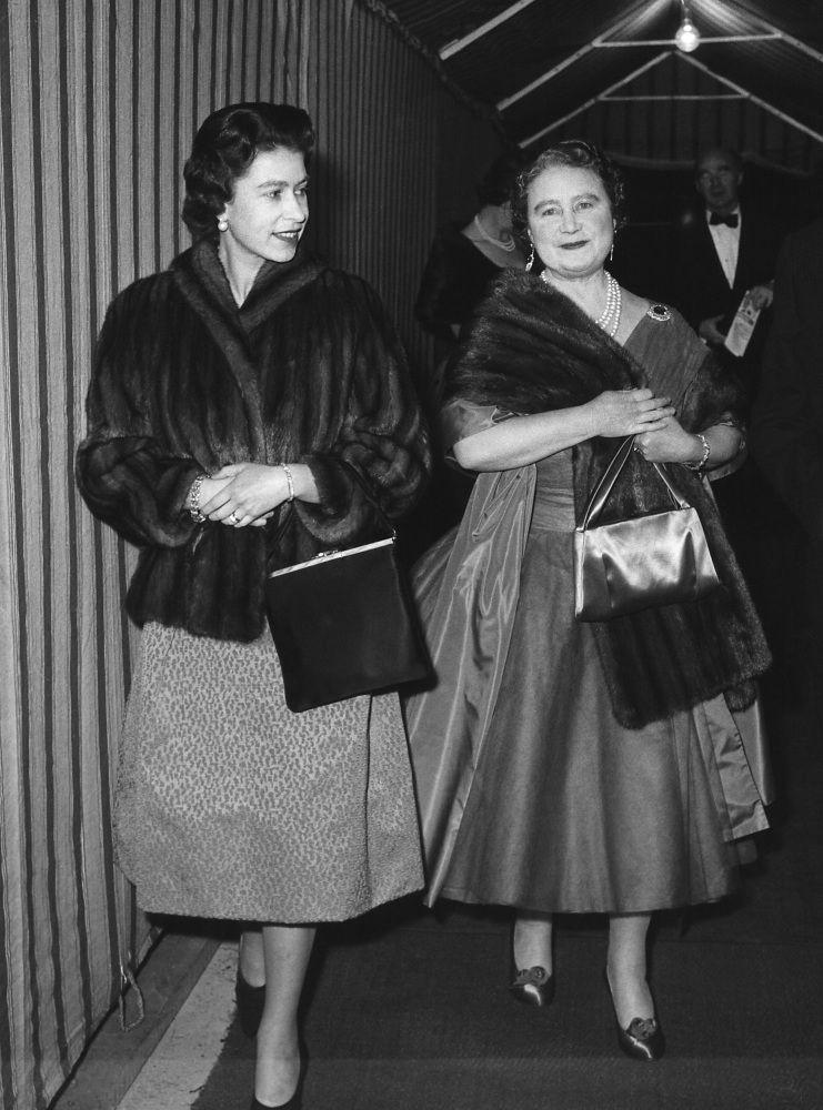 Queen Elizabeth II and The Queen Mother, February 1962