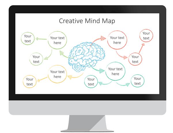 Mind Map Powerpoint Template Nursing Pinterest Creative Mind