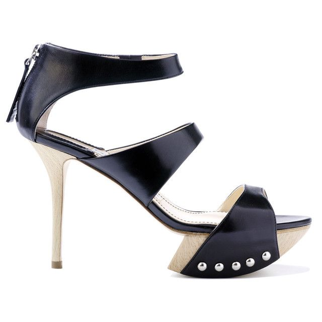 Camilla Skovgaard strappy sandals with wooden heels and spear plateau