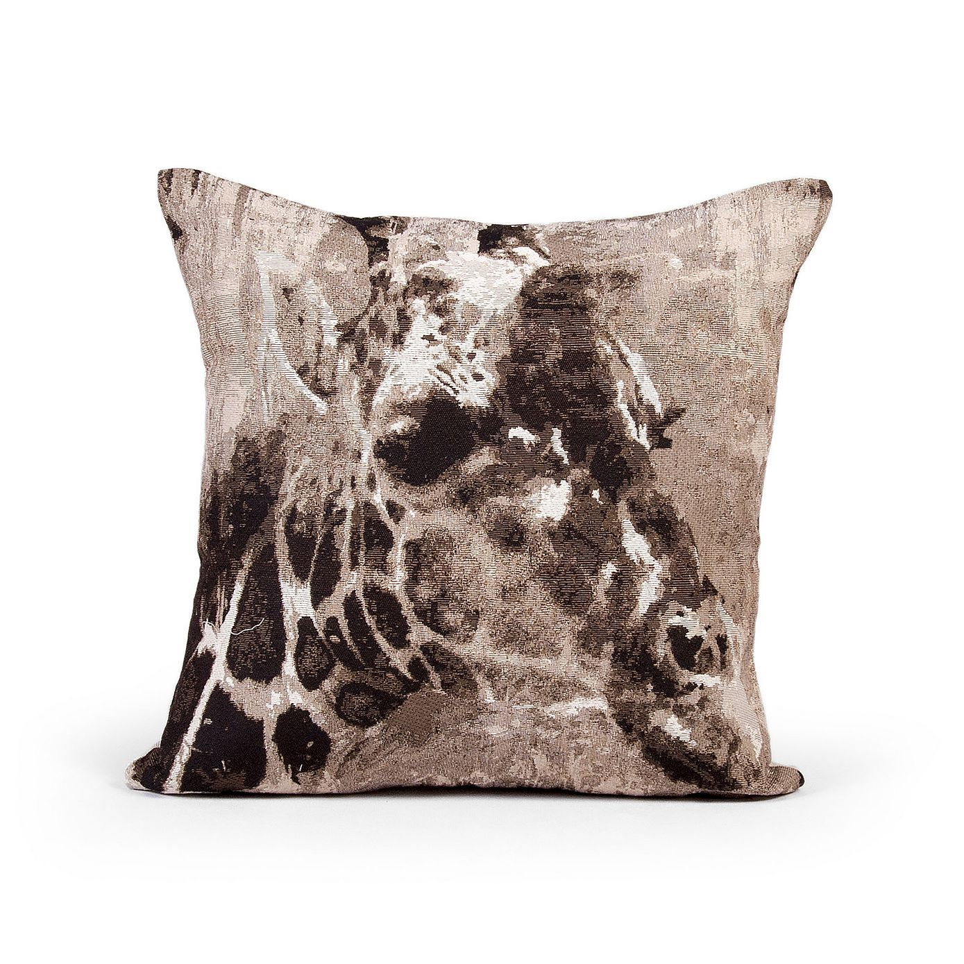 Black Giraffe Tapestry Cushion Dunelm animal kingdom