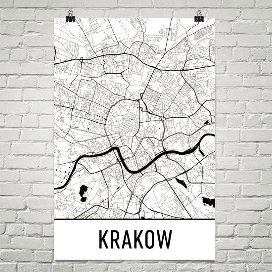 Krakow Map Krakow Art Krakow Print Krakow Poland Poster Etsy City Map Art Map Art Beautiful Posters