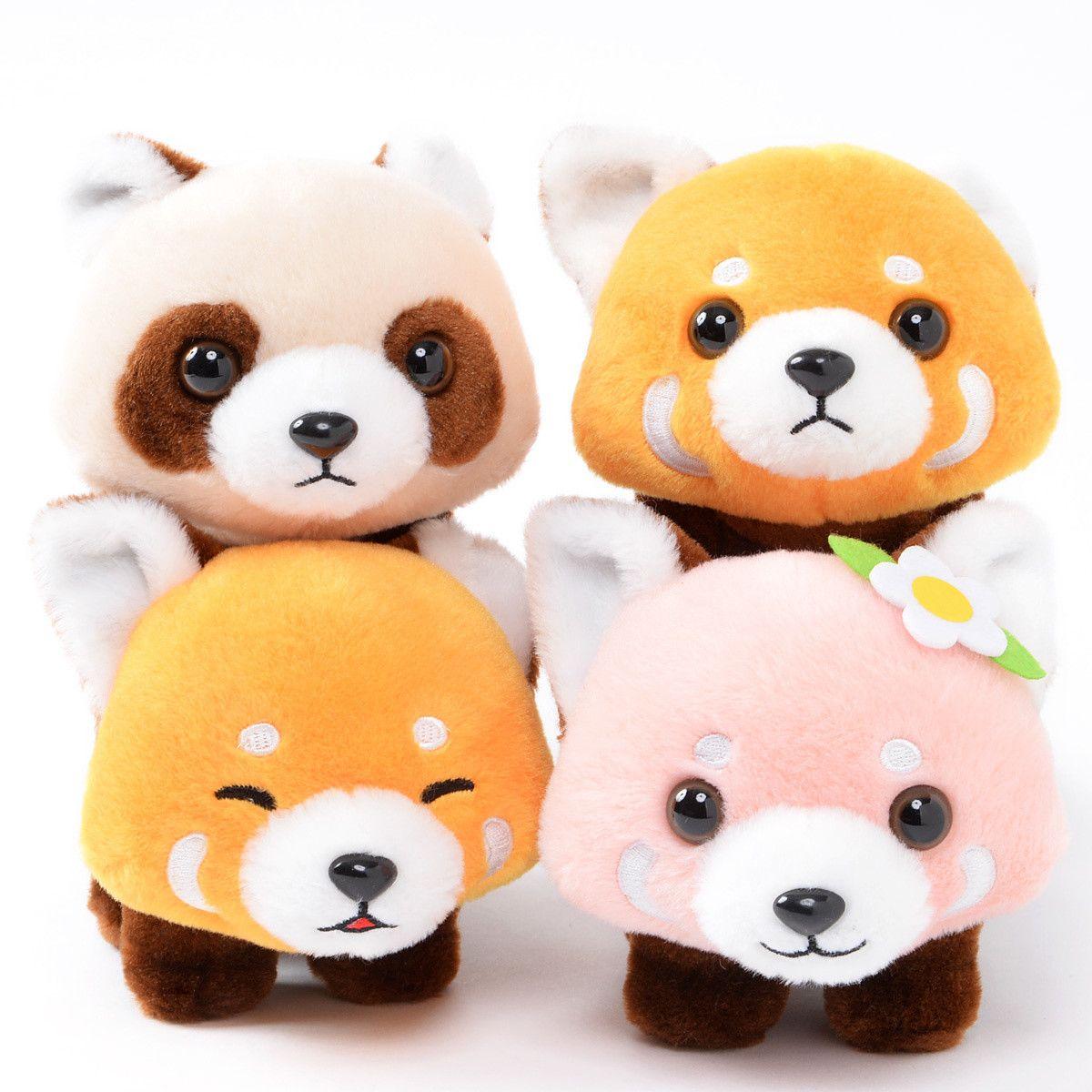 Lesser Pandachan Yochiyochi Red Panda Plush Collection