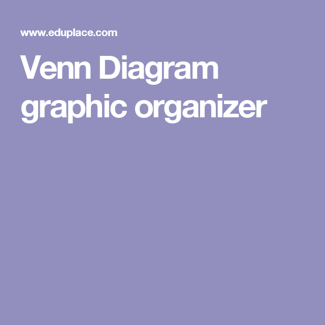 Venn Diagram Graphic Organizer Teaching Esl Pinterest Venn