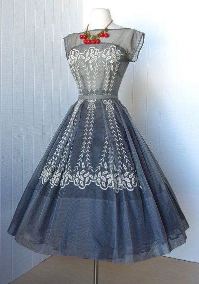 1950's Paul Sachs Embroidered