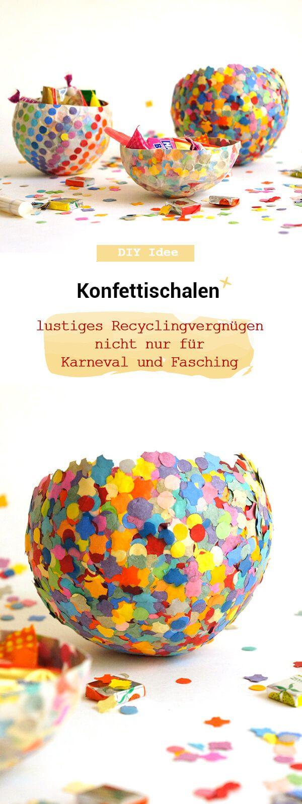 Recycling Konfettischale aus Pappmachée - Frau Scheiner