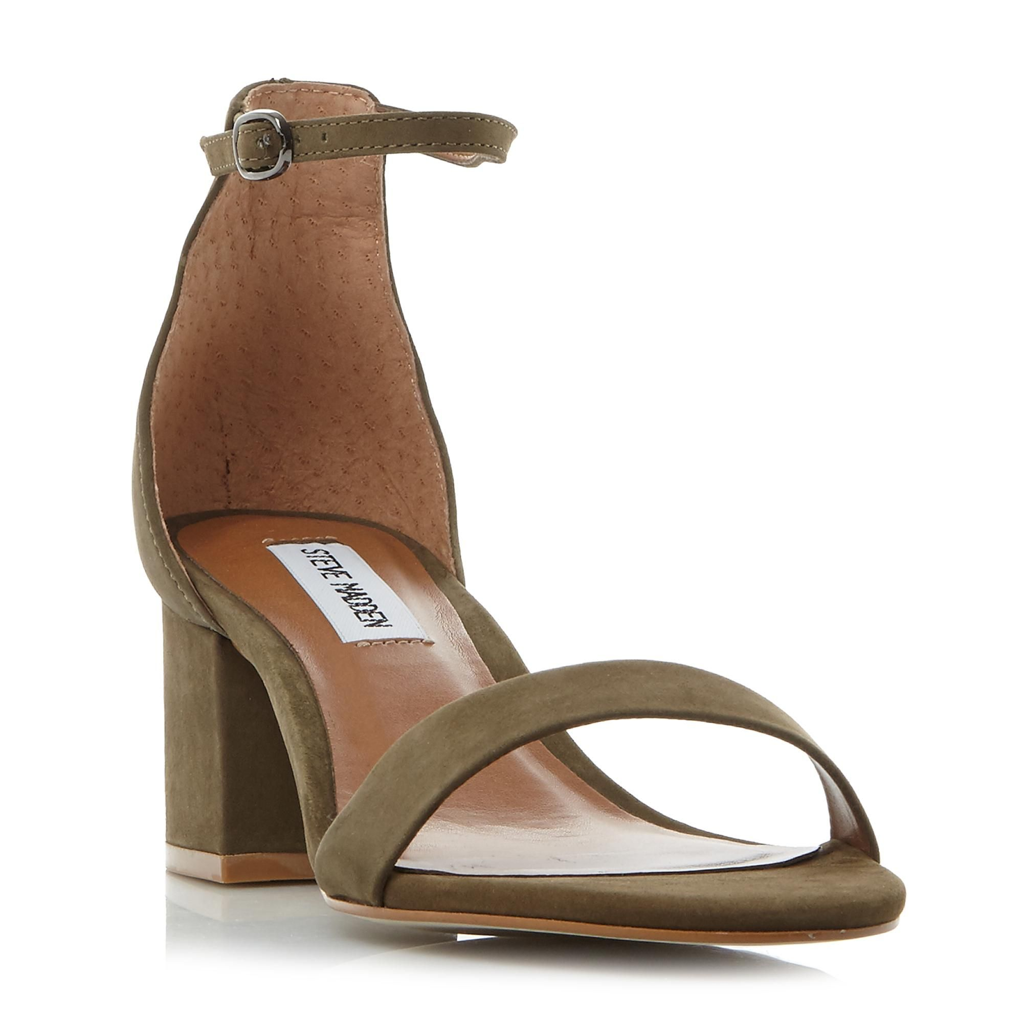 Steve Madden Ladies IRENEE SM Two Part Sandal in Khaki Size UK 8