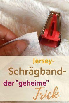 Jersey-Schrägband selber machen – Nähanleitung von K-Nähleon