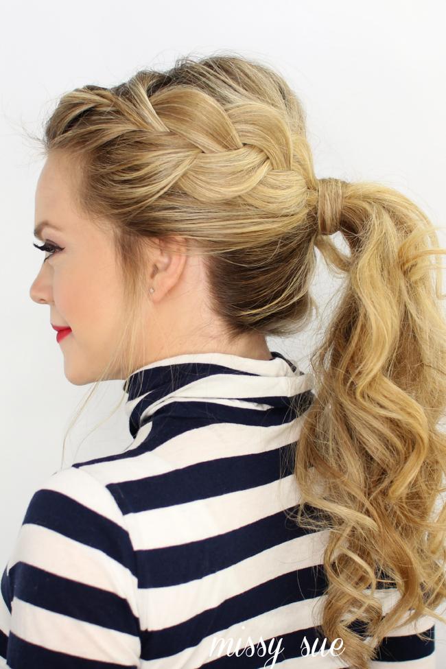 side french braid ponytail womens world pinterest