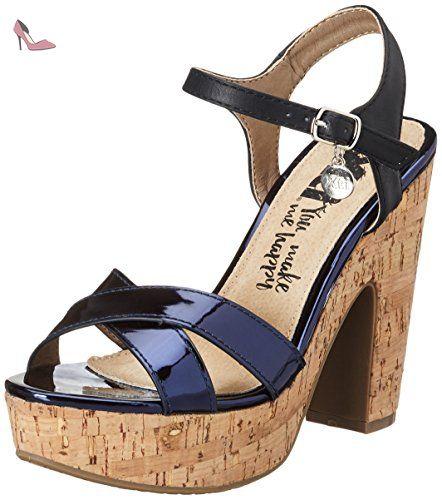 Xti Nude Mirror PU Ladies Sandals, Sandales Compensées FemmeMarron (Nude), 40 EU