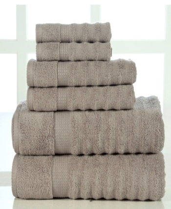 Elegance Spa Spa Quick Dry Cotton Ribbed 6 Piece Towel Set