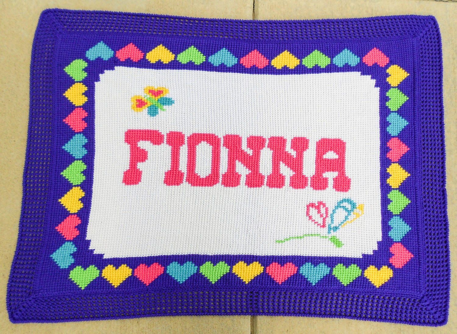 Personalized Child Blanket  Child Name Blanket  Crochet Child Name Blanket   Custom Afghan  Baby Keepsake  One Of A Kind Gift Baby Gift
