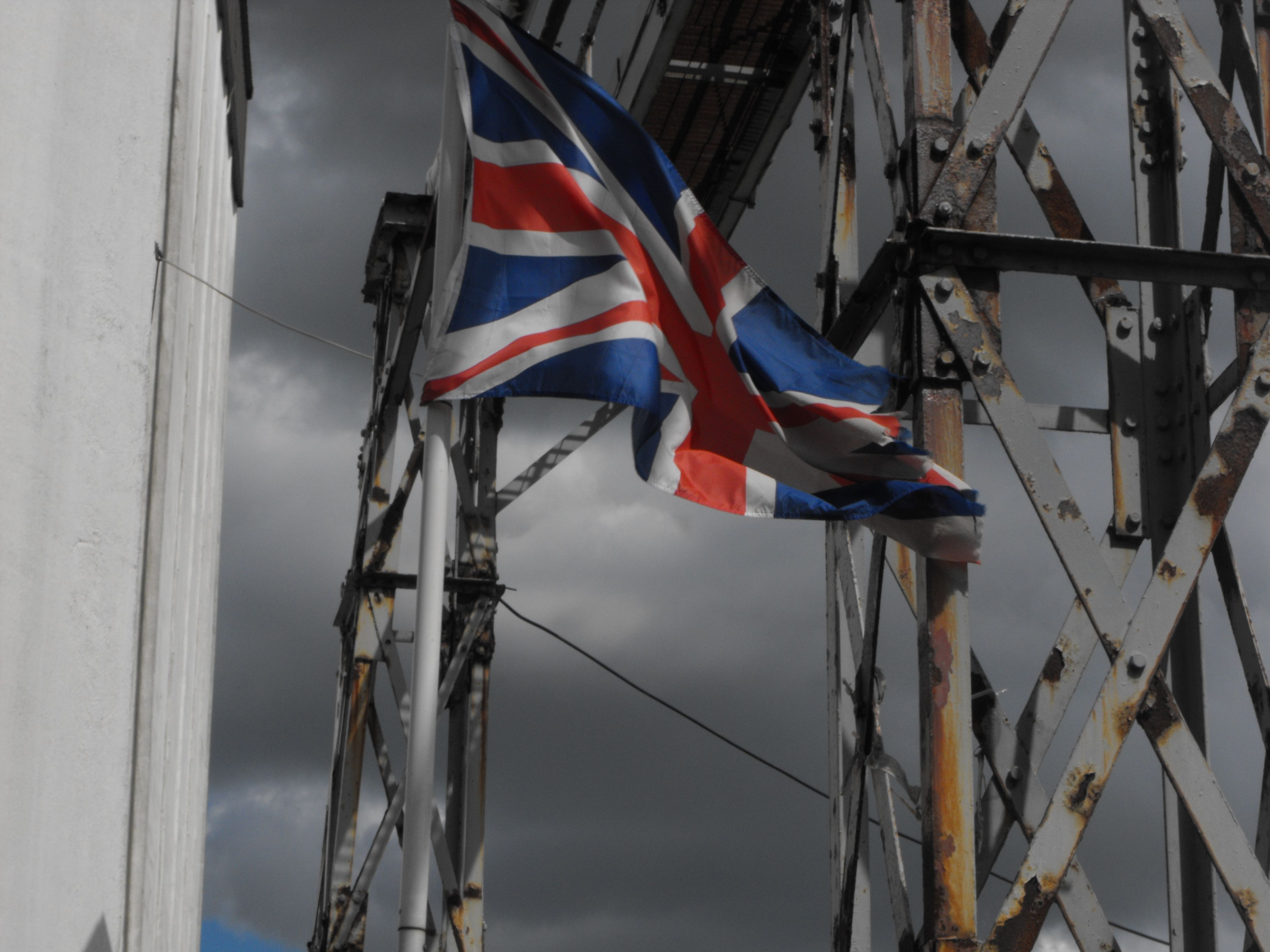 England Flag with traditional grey clouds xD   WW1 Festival in ...