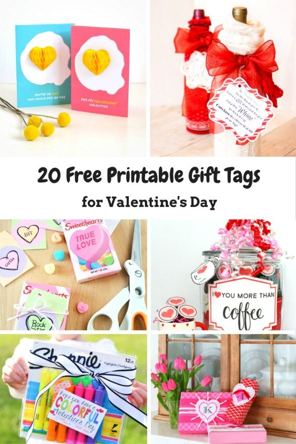 20 free printable valentines day gift tags pinterest free 20 free printable valentines gift tags negle Choice Image
