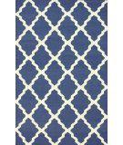 RugStudio presents Nuloom Flatweave Pop Trellis Deep Blue Flat-Woven Area Rug