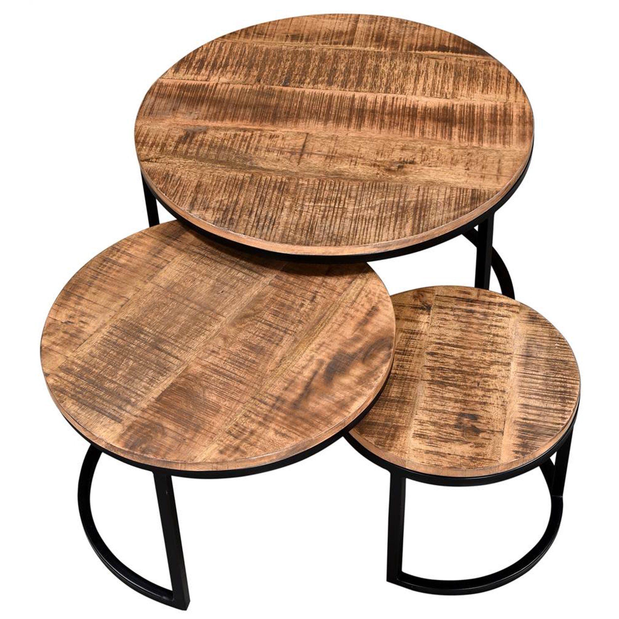 Rustic Modern Solid Wood Metal 3pc Coffee Table Set Walmart Com In 2021 3 Piece Coffee Table Set Nesting Coffee Tables Round Nesting Coffee Tables [ 2000 x 2000 Pixel ]