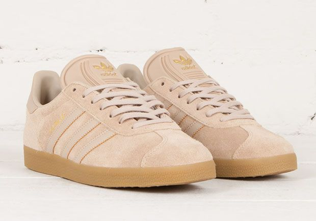 adidas gazelle white gum sole