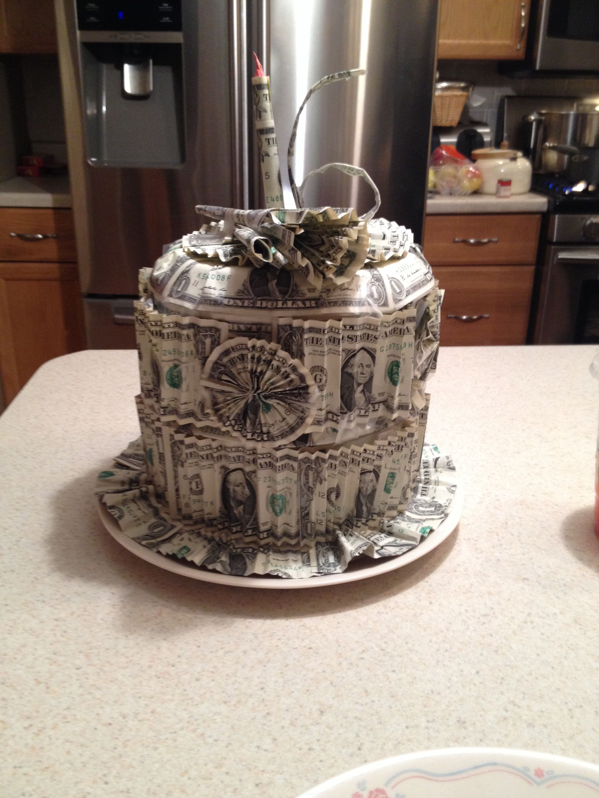 Birthday Cake Out Of Money Cute Idea Diy Amp Crafts