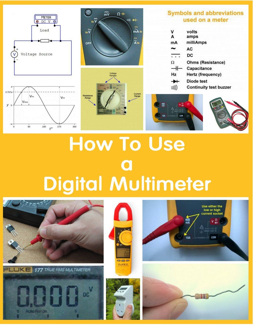 How to Use a Multimeter to Measure Voltage, Current and