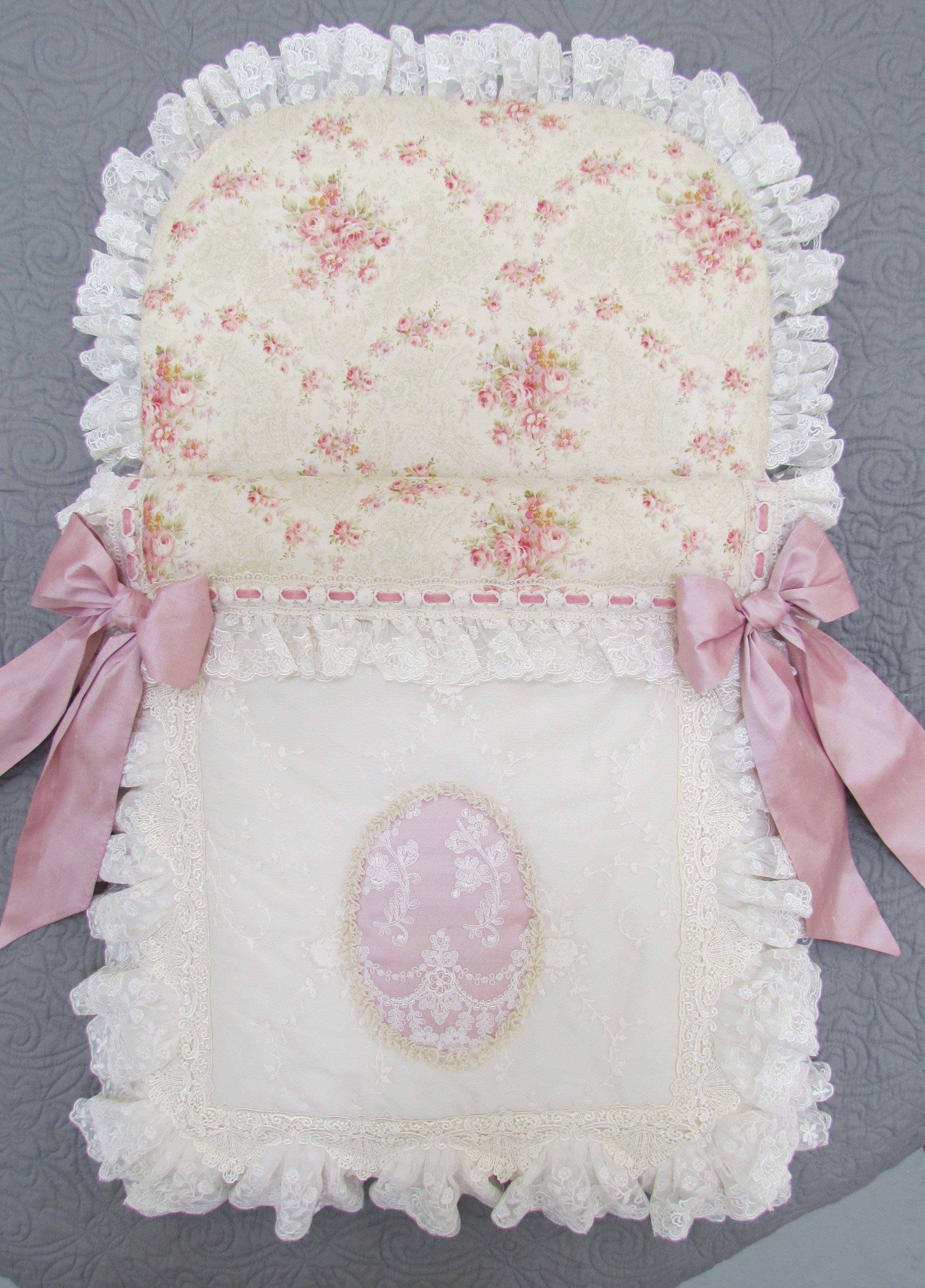 Floral cotton baby nest | Angela Lace Creations | Pinterest