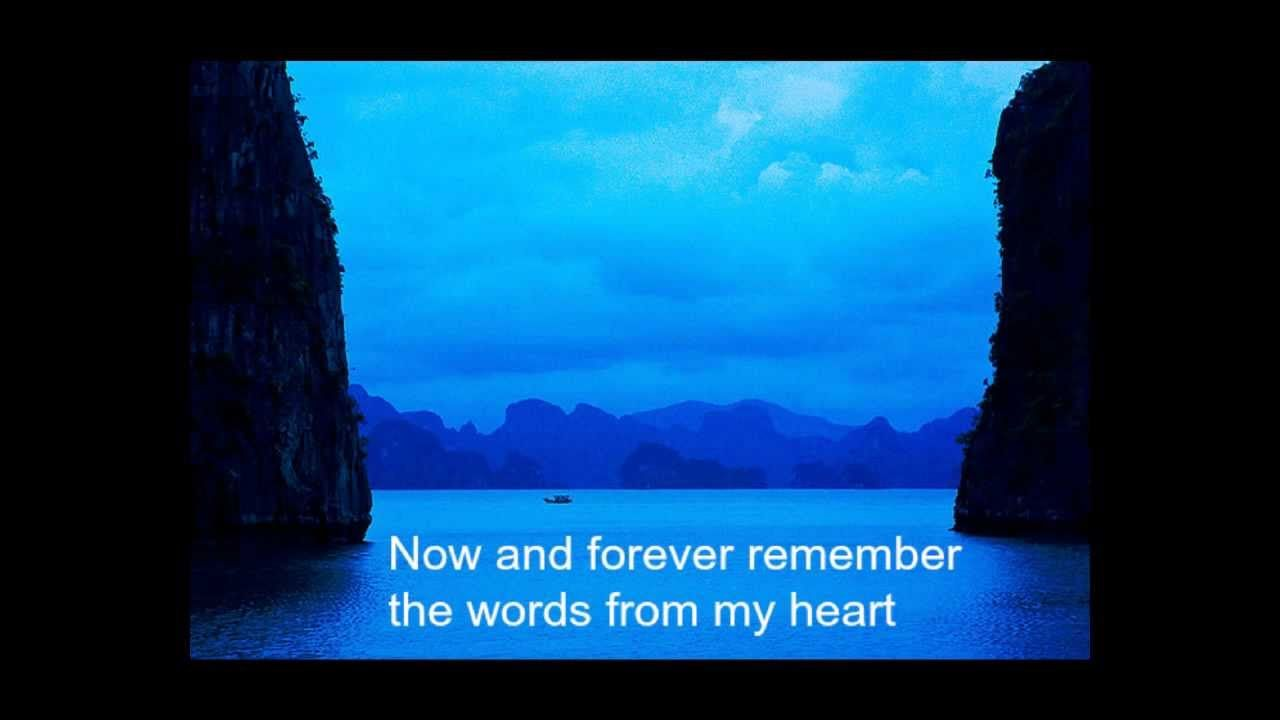 Pin by Julie McNamara on Songs (With images) | Now and forever. Lyrics. Music lyrics