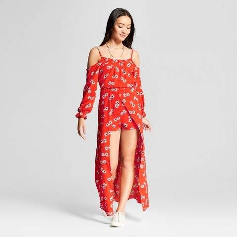 06e1dbeeee5c Lots of Love by Speechless Women s Off the Shoulder Floral Walk Through  Dress - Lots of Love by Speechless (Juniors ) Red  fashion  dress  teenage   afflink