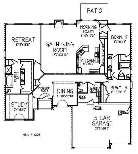 The willow floor plans jeff benton homes want this for The willow house plan