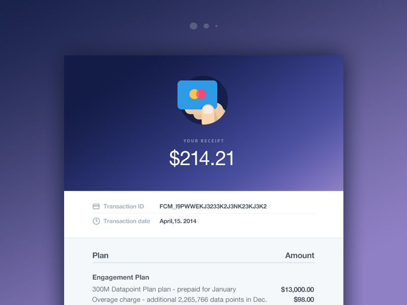 Email Receipt For Mixpanel Newsletter Design Mobile App Design Web Inspiration