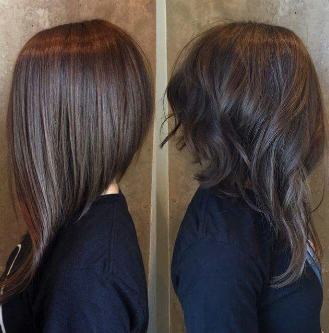 Long Front Short Back Long Angled Bob Hairstyles Hair Lengths