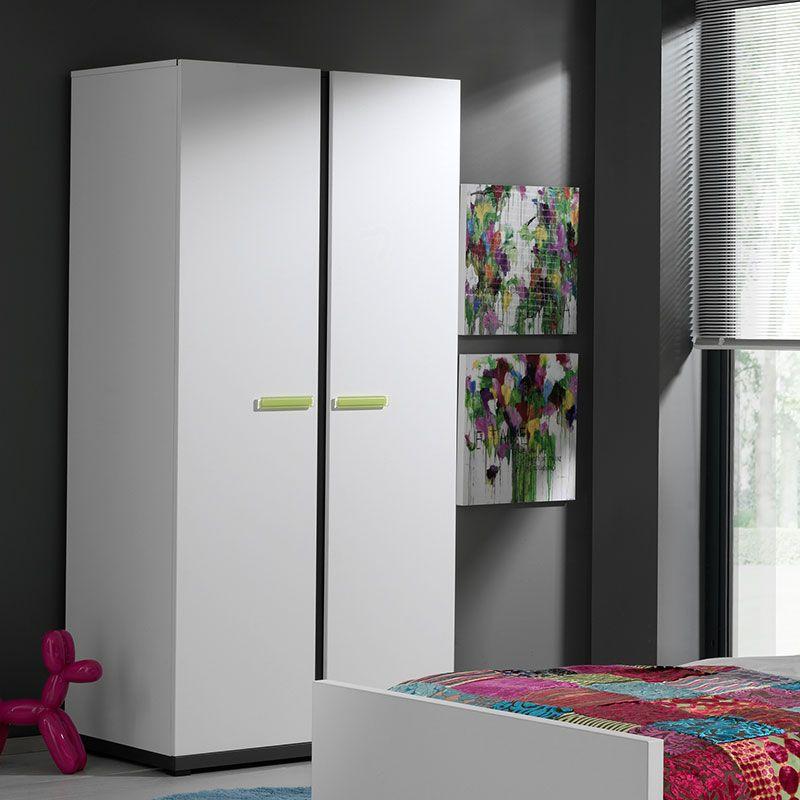 Armoire blanche moderne 2 ou 3 portes POMMY Meubles chambre enfant