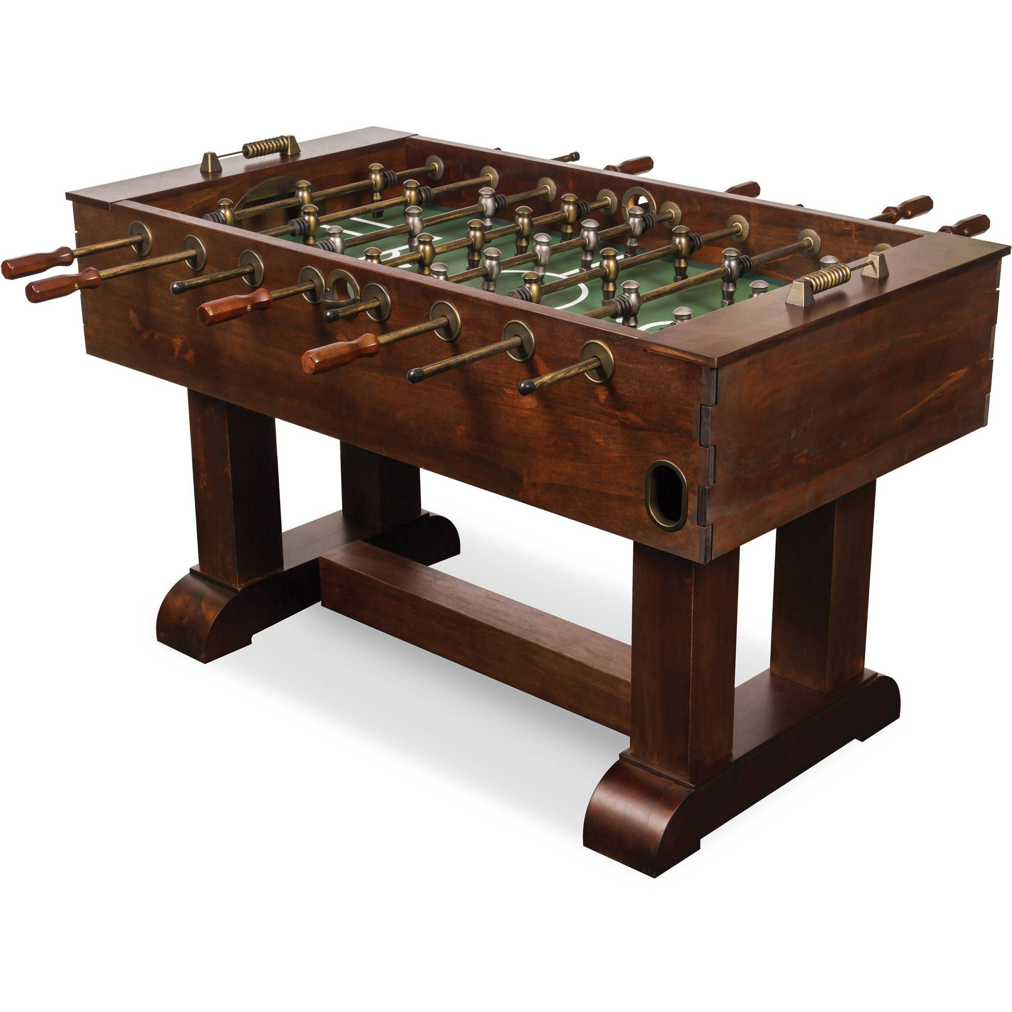 Barrington 56 Foosball Soccer Table With Bead Scoring Accessories Included Brown Walmart Com Foosball Table Foosball Game Room