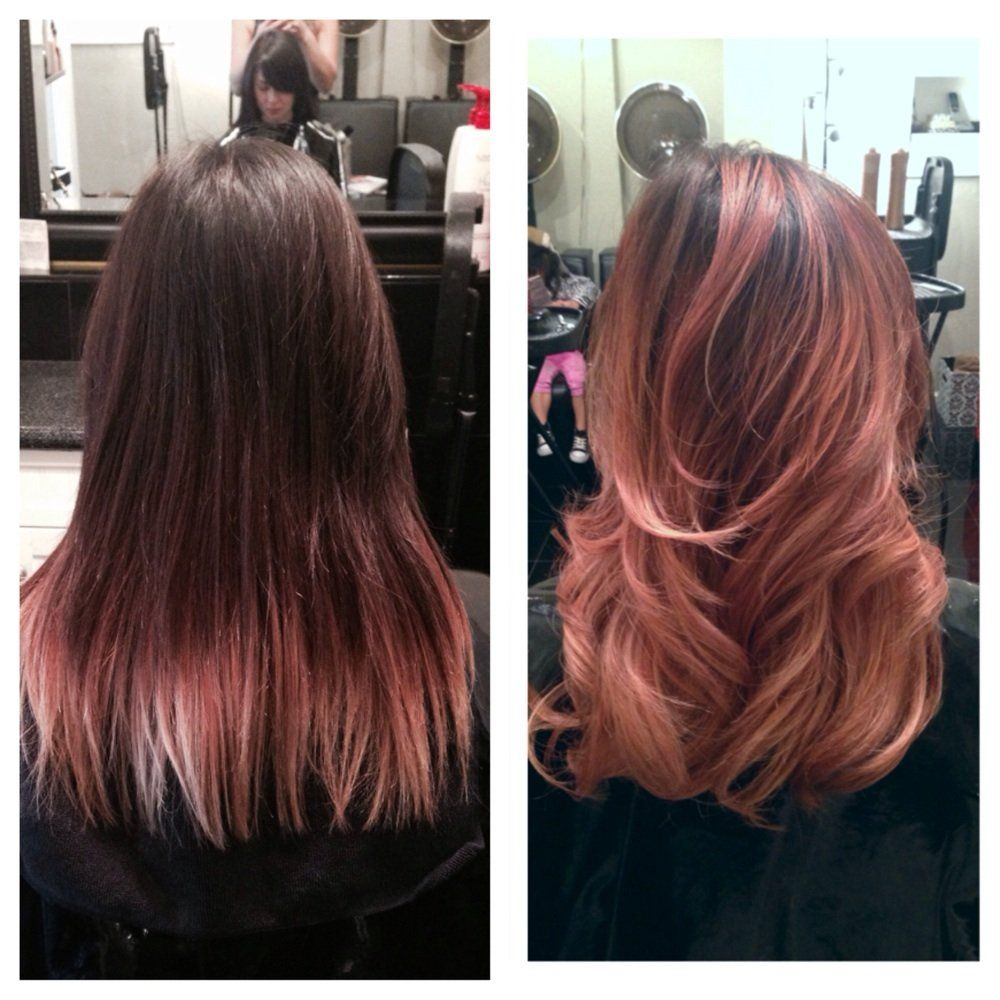 Mola Raxakoul , Rose gold balayage highlights , Burlingame, CA, United  States