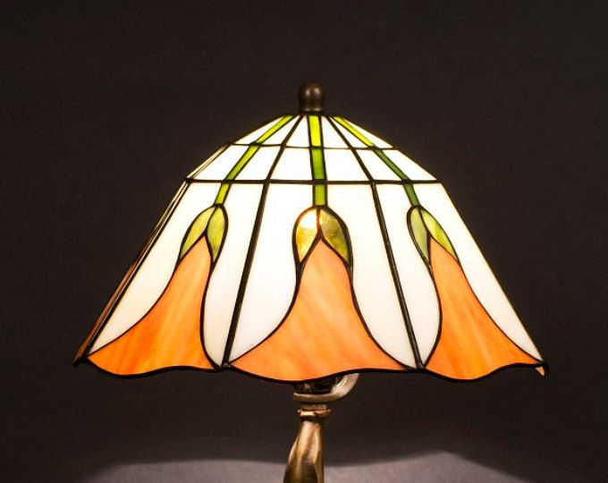 Maple Leaf Stained Glass Lamp Tiffany Lamp Table Lamp Desk