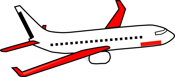simple airplane clipart easy