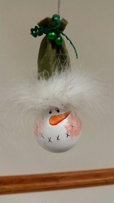 Snowman Light Bulb made by SJV Ladies Club