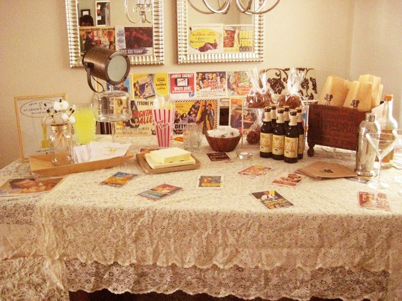 DIY Vintage Hollywood Oscars Party