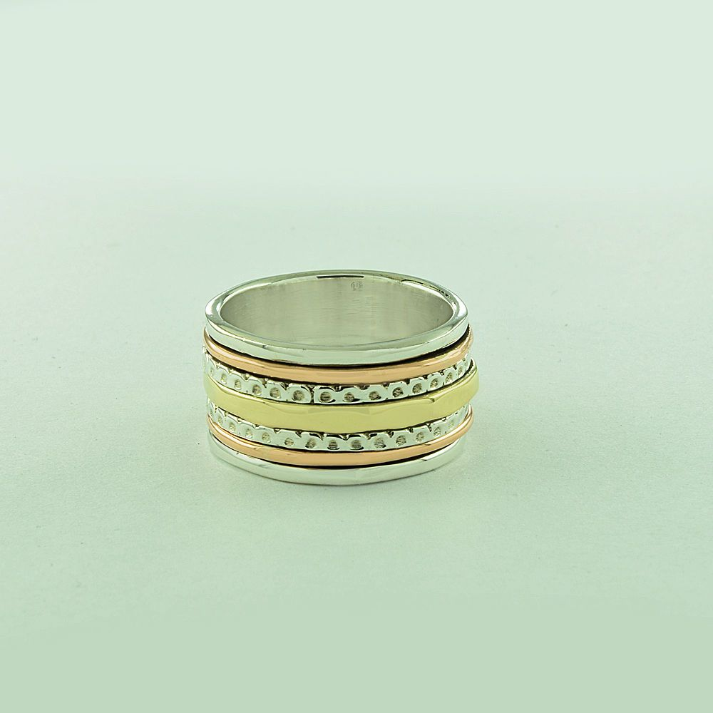 SILVER,COPPER & BRASS DELIGHTFUL DESIGN 925 STERLING SILVER RING #SilvexImagesIndia #Spinner