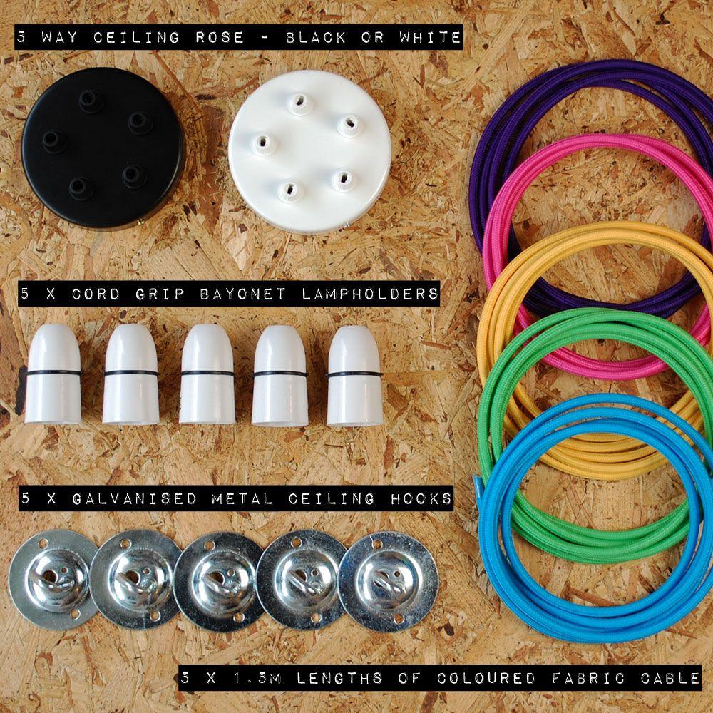 5 Way Multi Pendant Ceiling Rose Kit Lighting Pendants Wiring
