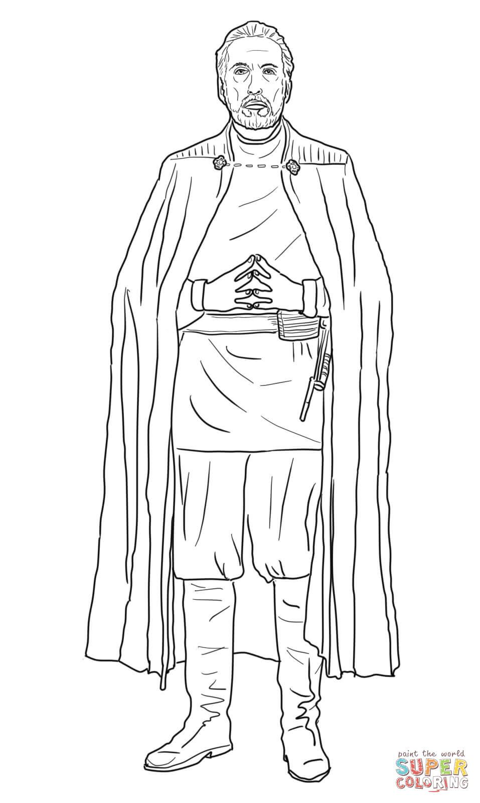 Count Dooku Super Coloring Star Wars Drawings Star Wars Images Sailor Moon Coloring Pages