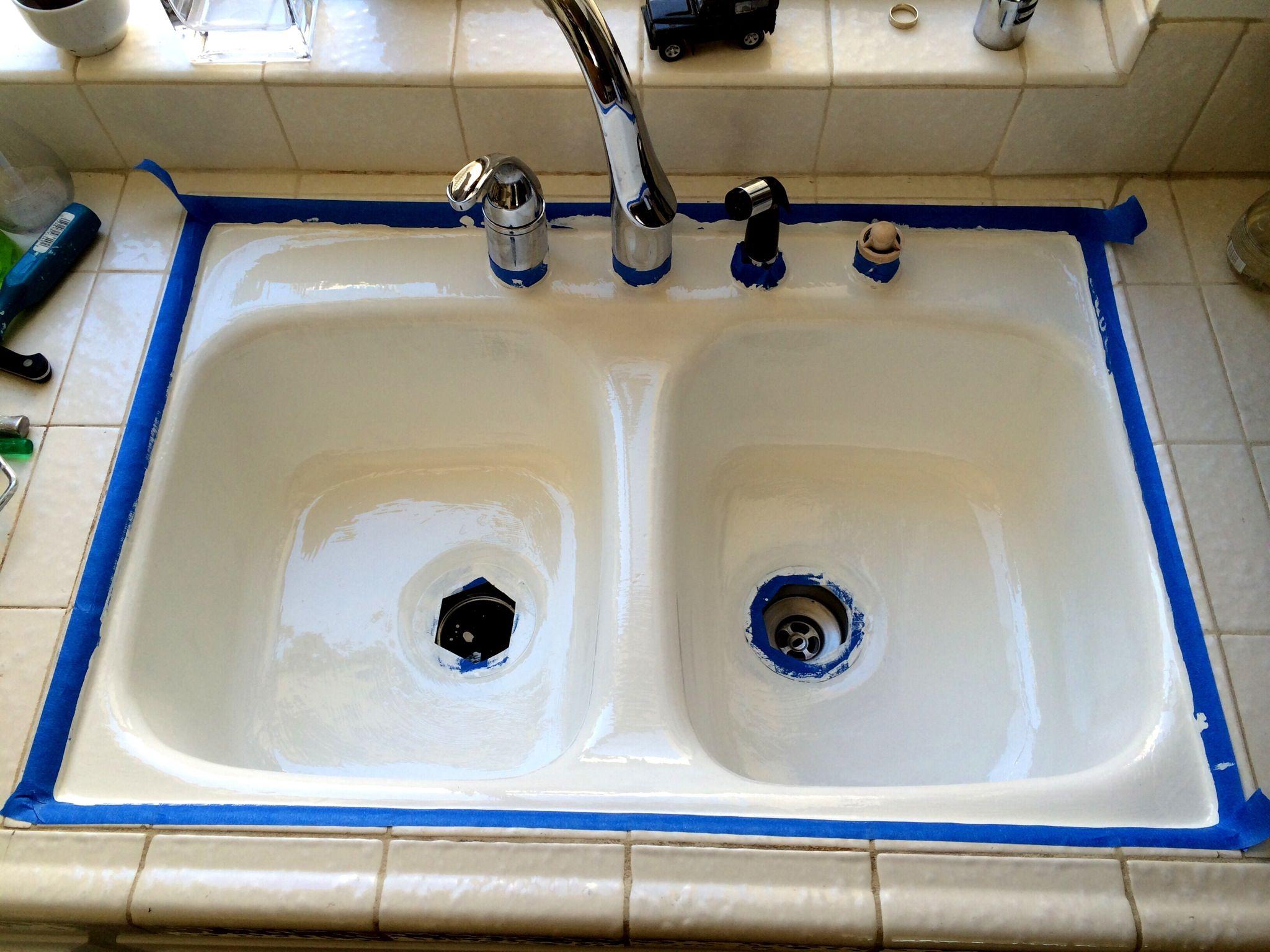 How To Resurface A Sink Recipe Sink Kitchen Sink Diy Porcelain Kitchen Sink