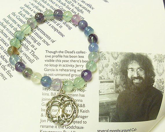 Green Violet  Fluorite Celtic  Tree of Life  by sherrishempdesigns