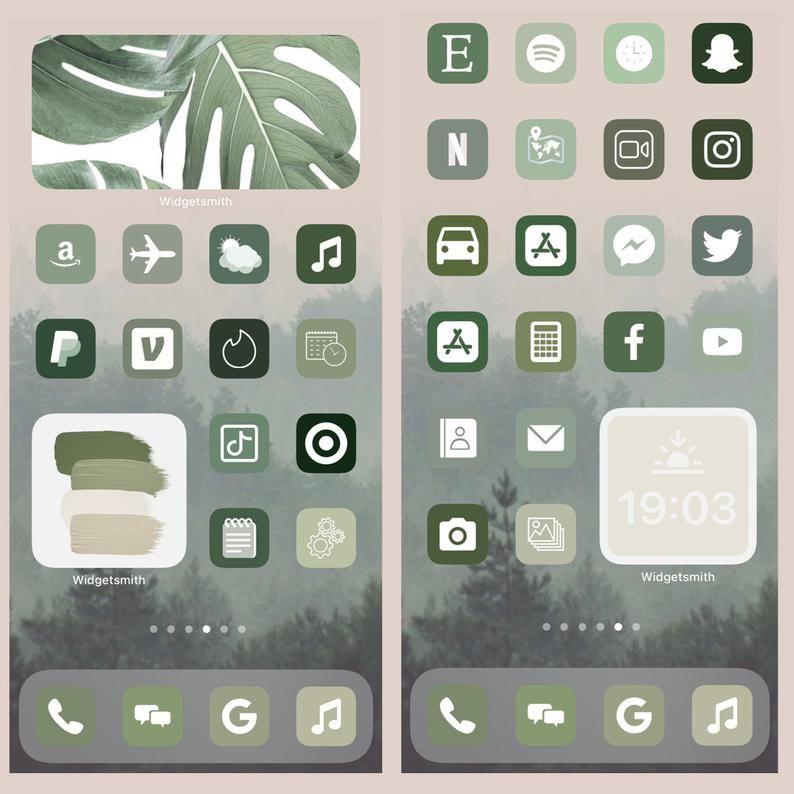 200 iOS 14 Icons App Covers Boho Aesthetic IPhone