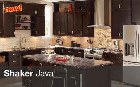 Kitchen Cabinets Java Color the java shaker kitchen cabinets are a black solid wood cabinet