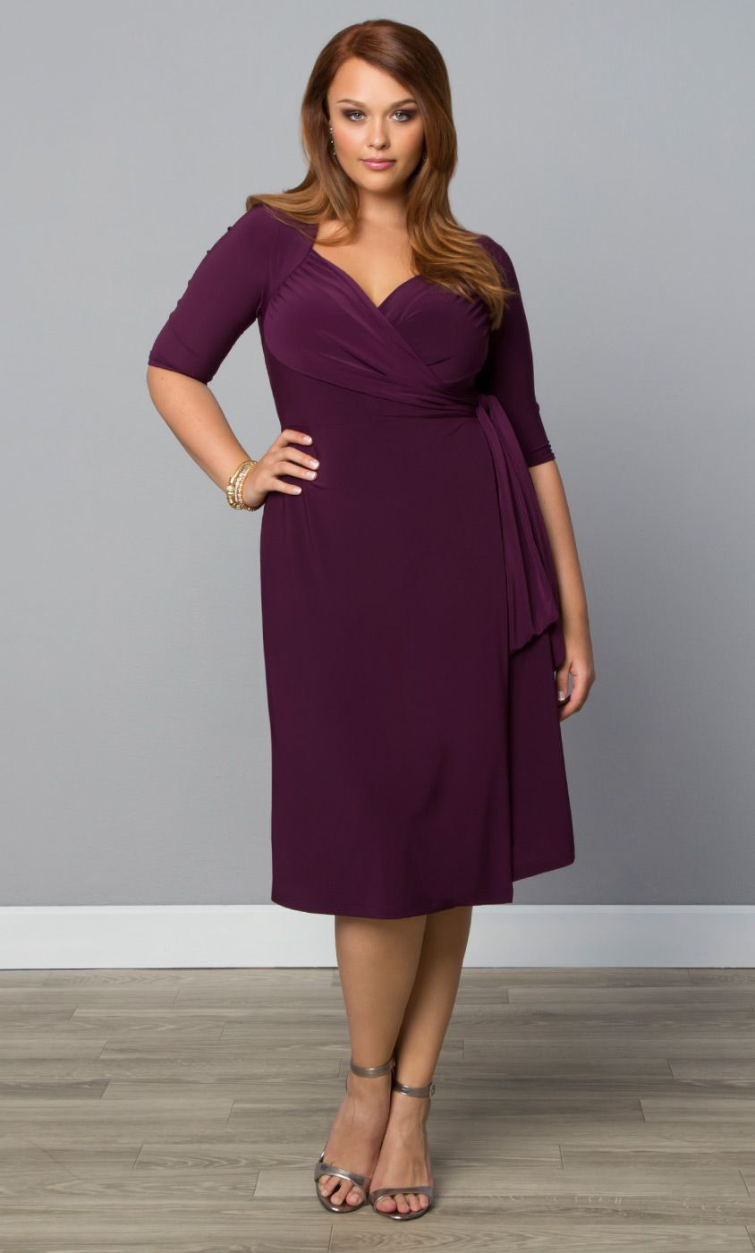 f9fbaee9eec6 Check out the deal on Sweetheart Knit Wrap Dress at Kiyonna Clothing. Check  out the deal on Sweetheart Knit Wrap Dress at Kiyonna Clothing Plus Size ...