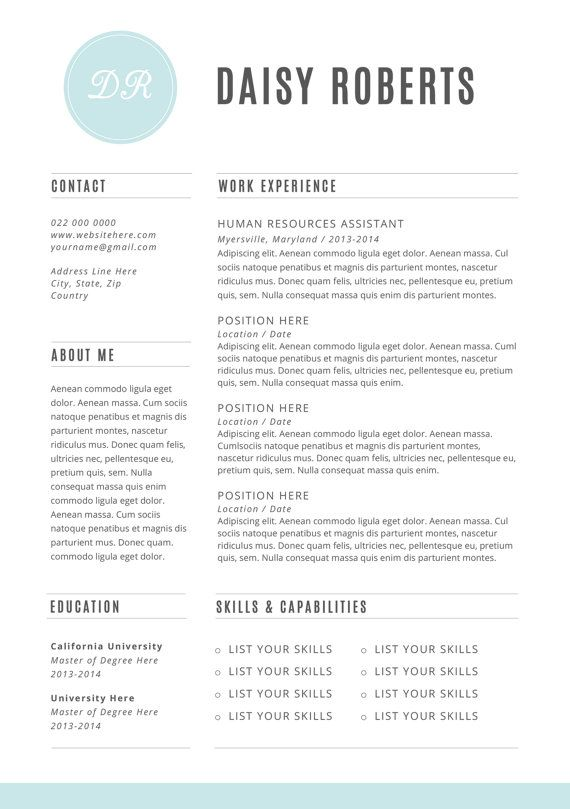 CV Design Cover Letter INSTANT DOWNLOAD by BrandConceptCo on Etsy - resume templates microsoft word 2013